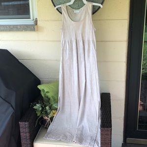 Ladies long linen dress.